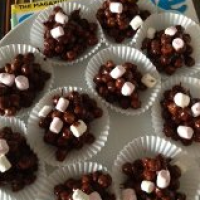 Delicious and easy chocolate crispy refrigerator cakes – egg free, gluten free, dairy free