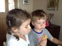 My little taste testers - biting off more than they can chew!