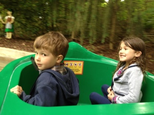 sophia and zac on a ride