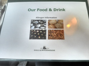 Hall & Woodhouse 'Allergen Info'